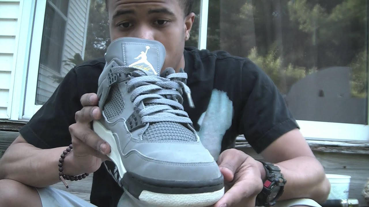 0726f159a7a9 Nike Air Jordan Cool Grey 4 Review - YouTube