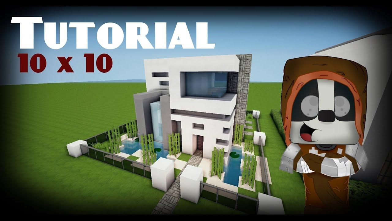 Minecraft como hacer una casa moderna 10x10 5 youtube for Casa moderna minecraft ita download