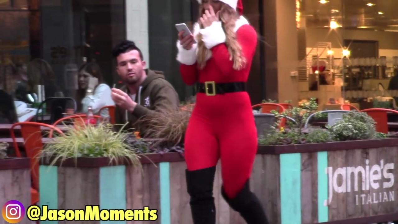 57b30da995d Sexy Santa Big Booty Bait Experiment (Christmas Edition) - YouTube