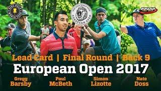 European Open 2017 Lead Card Final Round Back 9
