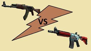 AK-47 Jaguar VS M4A4 Bullet Rain Trade-up Contract!