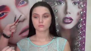 Мастер-класс по макияжу от преподавателя Профессионал-плюс. Пошаговое обучение. Курсы визажистов.(Курсы визажистов в студии