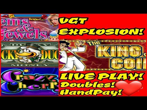 VGT EXPLOSION! SEVERAL VGT GAMES | LIVE PLAY | DOUBLE UPS | WIN CLIPS | HANDPAY AT THE END!!