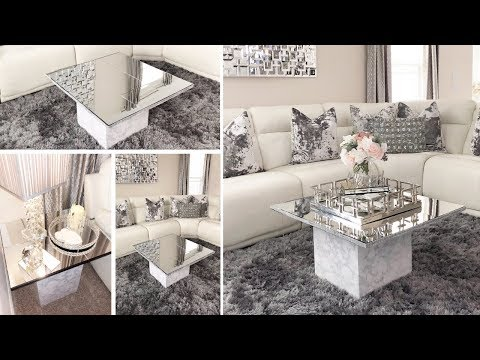 DIY Living Room Mirror Table Set! | Using Dollar Tree Mirrors to make Furniture!