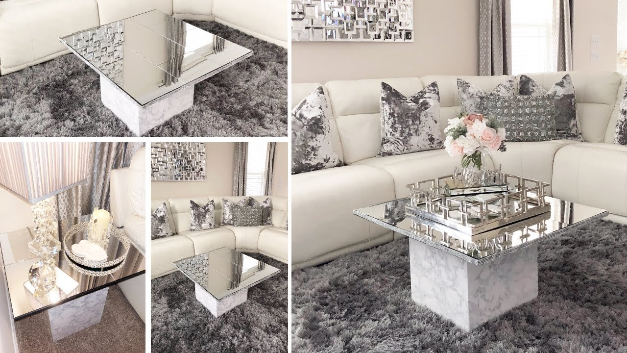 DIY Living Room Mirror Table Set!