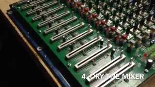 How to clean a mixer with water (Soundcraft EPM 8)
