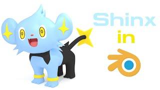 Shinx (Pokemon) - Blender Speed Modeling