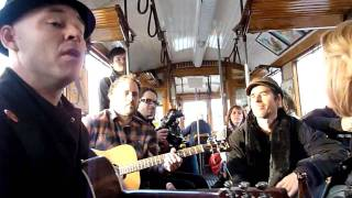 Nathen Maxwell - Stick to My Guns [HD] live + acoustic in a tram