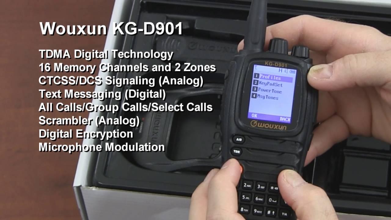 Wouxun KG-D901 DMR Digital Radio Preview