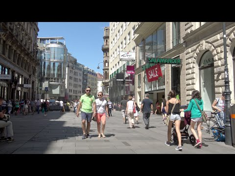 Shopping streets in Vienna (Wien) - Austria (4K Ultra HD)