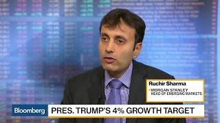 Morgan Stanley's Sharma: Trump to Fall Short of 4% Growth