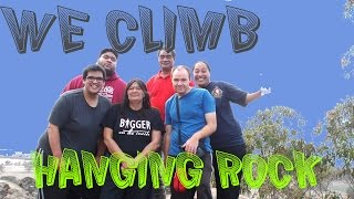 We climb Hanging Rock