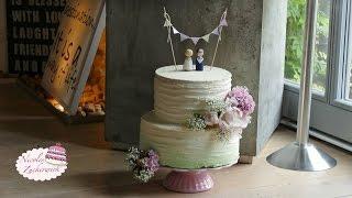 Vintage Hochzeitstorte im Ombré Look | Farbverlauf | ohne Fondant | von Nicoles Zuckerwerk