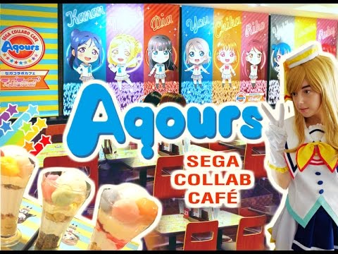 LoveLive! AQOURS Café Akihabara 😍 SEGA collab café + Giveaway!