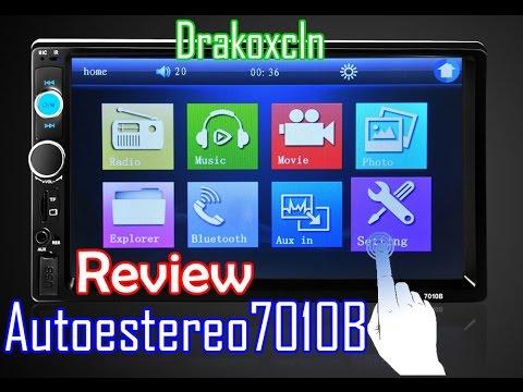 Auto Estereo 2 Din Bluetooth 7010B / 7' Car Player Review en Espaol