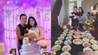 Vợ chồng Lam Trường hạnh phúc tổ chức tiệc hoành tráng đầy tháng cho con gái | Tin Nhanh Nhất