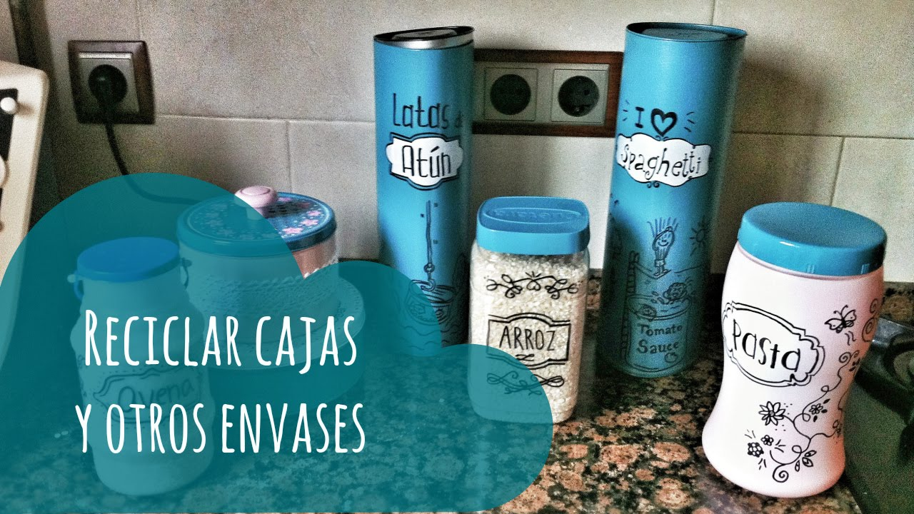 Reciclar cajas para organizar tu cocina youtube for Ideas de decoracion reciclando