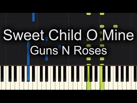 Sweet Child O Mine Guns N Roses Piano Tutorial Synthesia