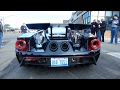 2017 Ford GT Heritage & 2005 Ford GT driving together