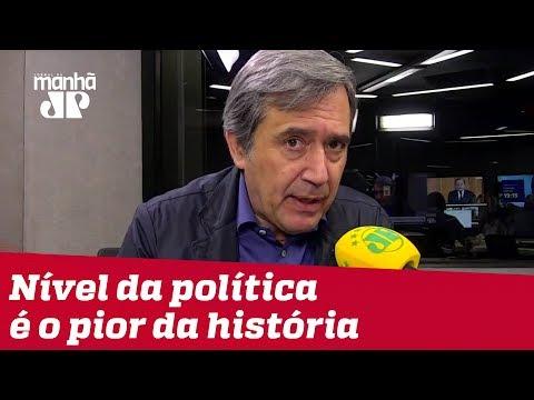 Nível da política brasileira é o pior da história republicana   Marco Antonio Villa
