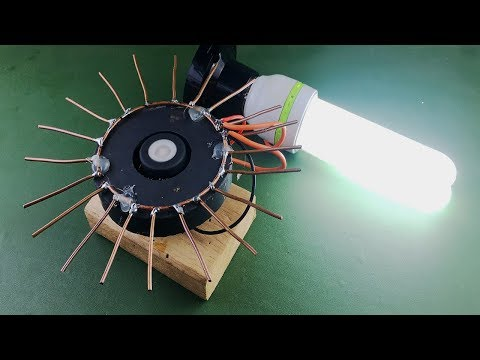 Electric Free Energy Generator Experiment , How to make New technology idea for 2018