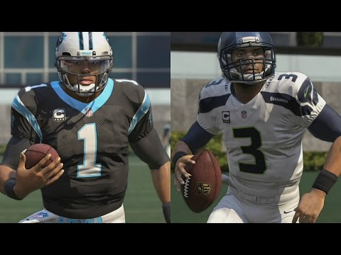 WHO CAN GET A 99YD SCRAMBLE?!? CAM NEWTON VS RUSSEL WILSON!! TRIVIA CHALLENGE!! MADDEN 16 CHALLENGE