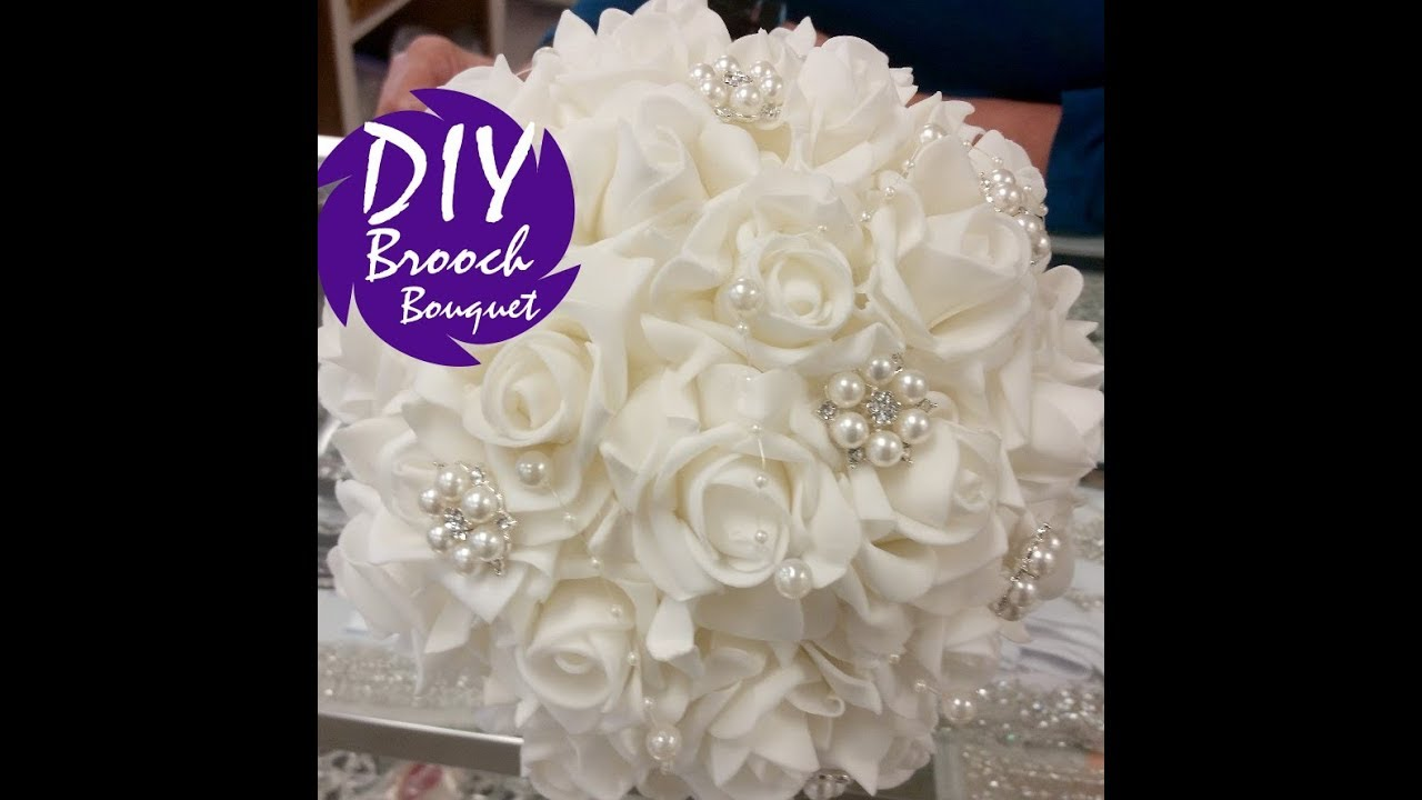 Diy Brooch Bouquet Kit L Easy Inexpensive Bouquet Tutorial L Wedding