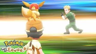 NEARLY LOST TO THE THIRD GYM LEADER!! | Pokémon Let's Go Eevee + Pikachu #10