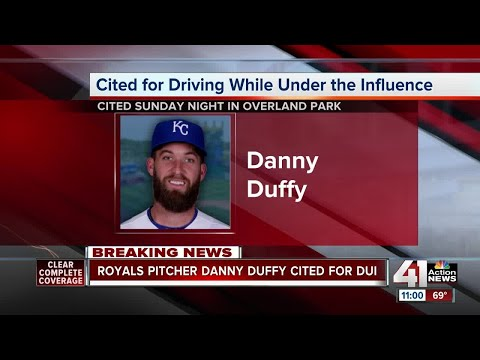 Danny Duffy cited for DUI in Overland Park