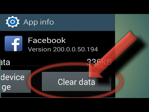 Clear Data Effect On Facebook Android App
