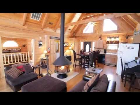 Three Bear 2 Bedroom 2 Bathroom Log Cabin Branson Www.Rentbranson.com    YouTube