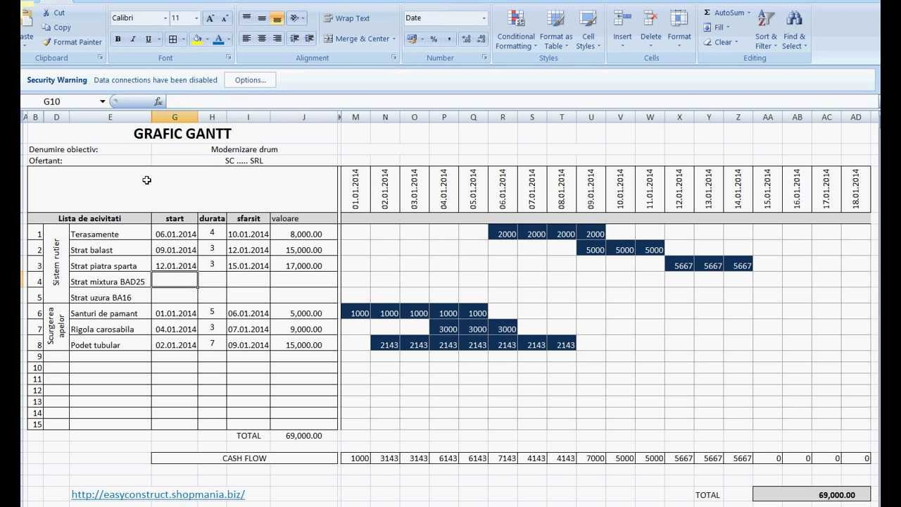 how to make a gantt chart in excel 2013 youtube