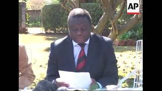 Tsvangirai on political situation, AU resolution, Mbeki