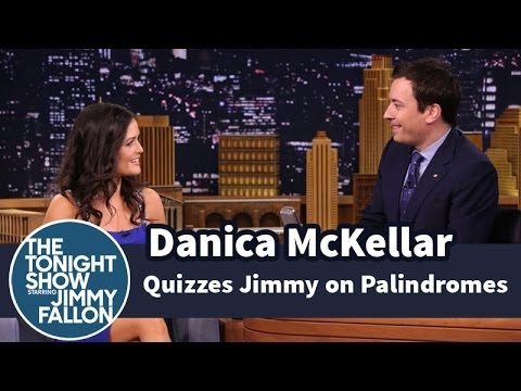 Danica McKellar Quizzes Jimmy on Palindromes