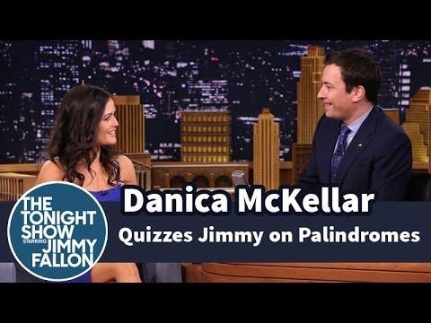 Danica McKellar Quizzes Jimmy on Palindromes