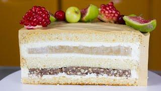 ТОРТ С СЮРПРИЗОМ ВНУТРИ Нежнейший торт с хрустящим сюрпризом Рецепт торта пошагово Бисквитный торт