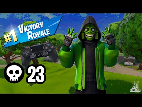 23 Kills Season 8 Is Too Easy (SOLO VS SQUAD) Fornite Battle Royale Controller on Pc Btw !
