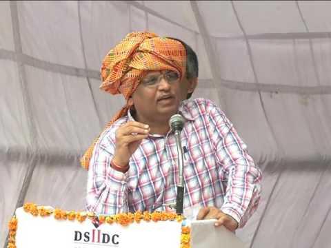 Delhi Health Minister Satyendar Jain at Najafgarh on the inauguration of roads/street/sewers