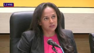 Isabel dos Santos - Conferência de Imprensa da Sonangol