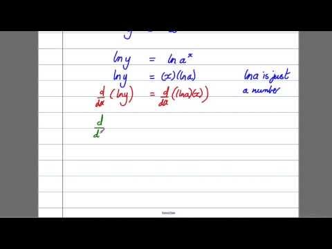 Differentiation (3) - Differentiating a^x (C4 Maths A-Level)