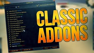 All The Classic Addons I Use (And what they do)