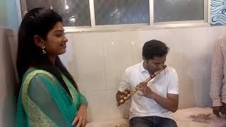 Tujyat jiv rangala serial track played on flute..in d presence of vahinisahe bdhanashree kategaonkar