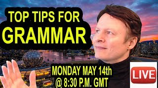 OMG Grammar tips!  | Learn English with Steve live
