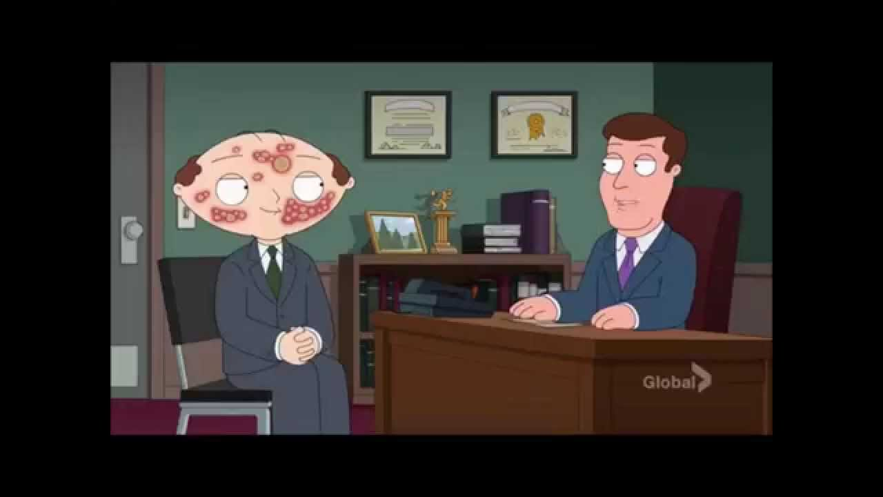 family guy stewie applies for a job with herpes youtube