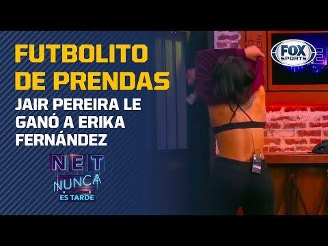 "Jair Pereira le ganó a Erika Fernández el ""Futbolito de prendas"""