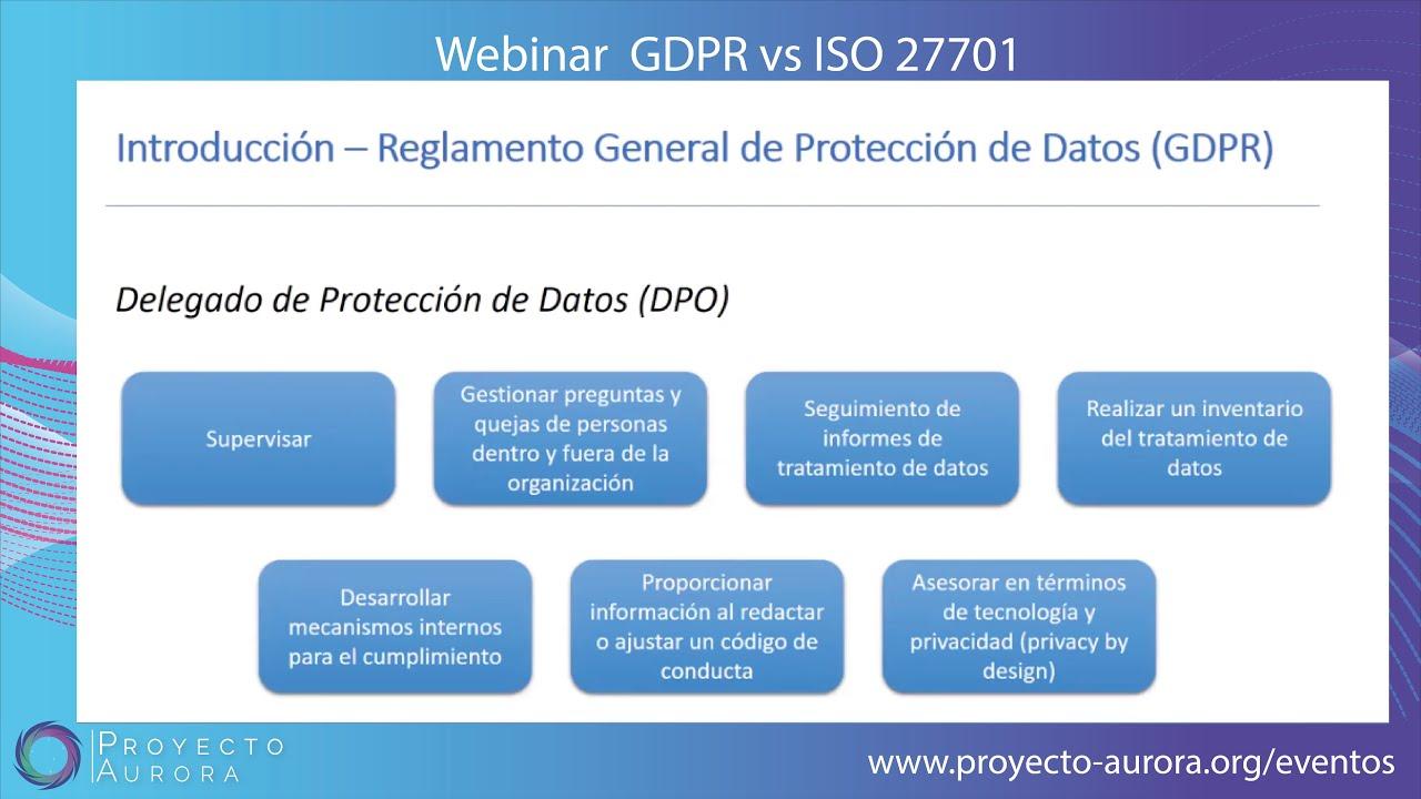 Webinar Gratuito: GDPR vs ISO 27701
