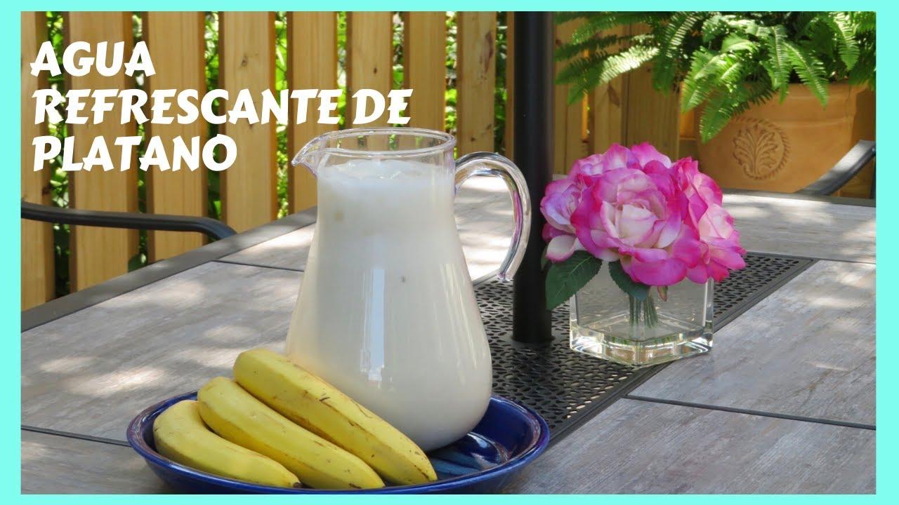 AGUA REFRESCANTE DE PLATANO |#COMO HACER |RECETA