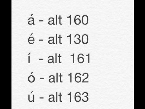 Como Escribir Acentos - á, é, í, ó, ú, y otros Simbolos ü, ¿?, ¼, ½, ☺, ☻, ♥, ♫, ♪