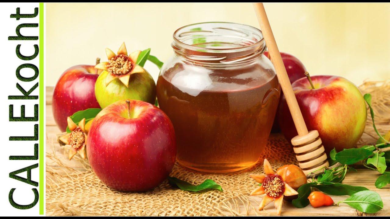 Apfel in gebräuntem Honig - YouTube