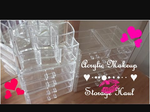 Dollar Tree Has Acrylic Makeup Bins ( DollAr Tree Haul)